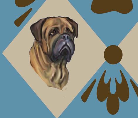 Bullmastiff quilt Two fabric by dogdaze_ on Spoonflower - custom fabric
