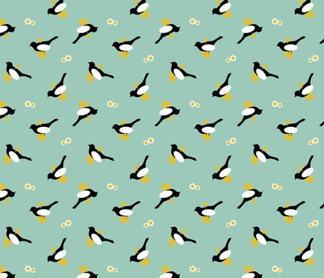 Wind-Up Bird fabric by tresgeek on Spoonflower - custom fabric
