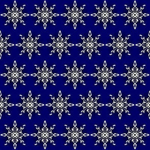 Midnight Snow Flakes Navy