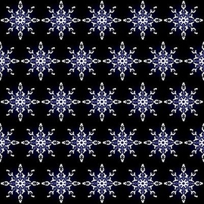 Midnight Snow Flakes Black