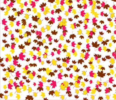 Maple Leaves 1, L fabric by animotaxis on Spoonflower - custom fabric