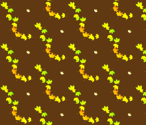 Maple Leaf Cascade 1, L fabric by animotaxis on Spoonflower - custom fabric