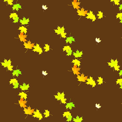 Maple Leaf Cascade 1, S fabric by animotaxis on Spoonflower - custom fabric
