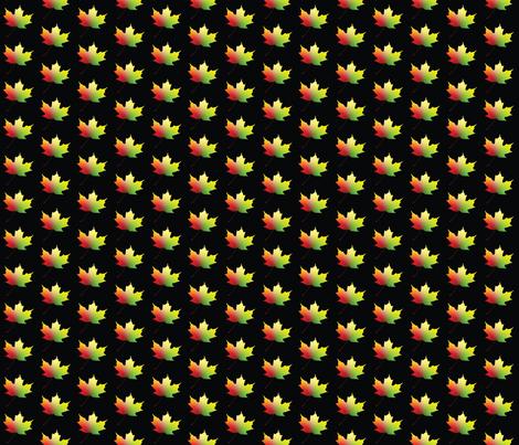 Rainbow Maple Leaf, S fabric by animotaxis on Spoonflower - custom fabric