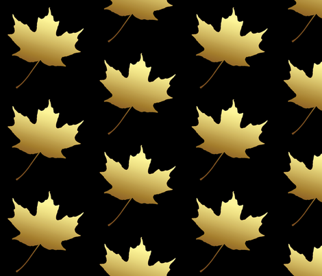 Golden Maple Leaf, L fabric by animotaxis on Spoonflower - custom fabric