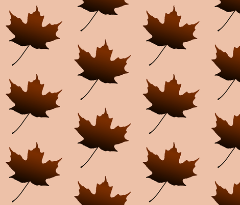 Chocolate Maple Leaf, L fabric by animotaxis on Spoonflower - custom fabric