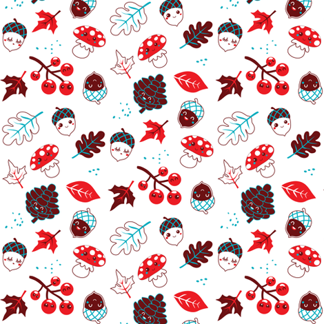 Happy Autumn fabric by irrimiri on Spoonflower - custom fabric