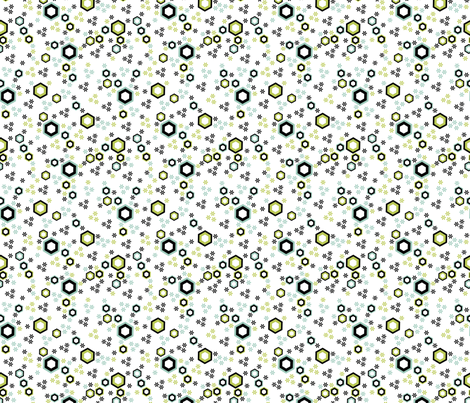 Hexy (zoom for better detail) fabric by mondaland on Spoonflower - custom fabric