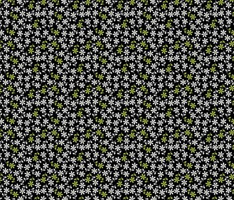 Hexy Flower (black) fabric by mondaland on Spoonflower - custom fabric