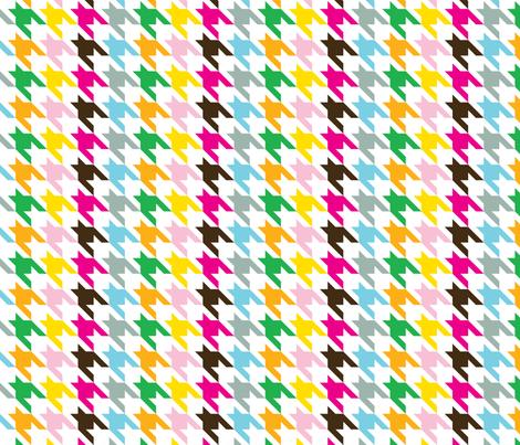 Houndstooth Rainbow fabric by honey&fitz on Spoonflower - custom fabric