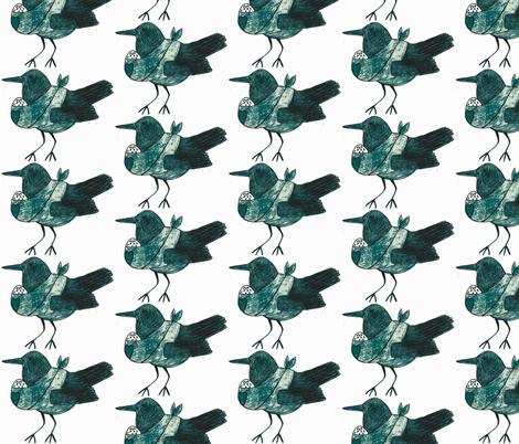crow mom-ch fabric by vinkeli on Spoonflower - custom fabric