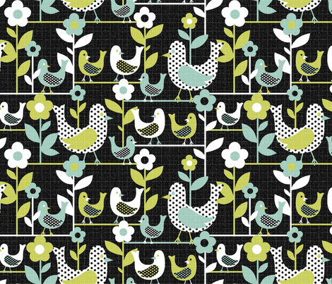 tweety tweet black fabric by collectivesurfacellc on Spoonflower - custom fabric