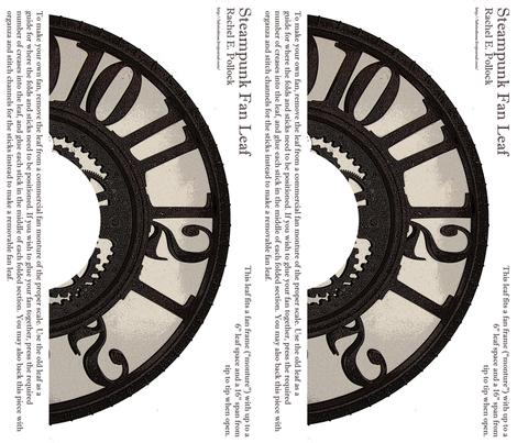 Steampunk Clock Fan fabric by la_bricoleuse on Spoonflower - custom fabric