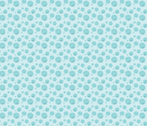 Craftiness! Blue Buttons fabric by wildolive on Spoonflower - custom fabric