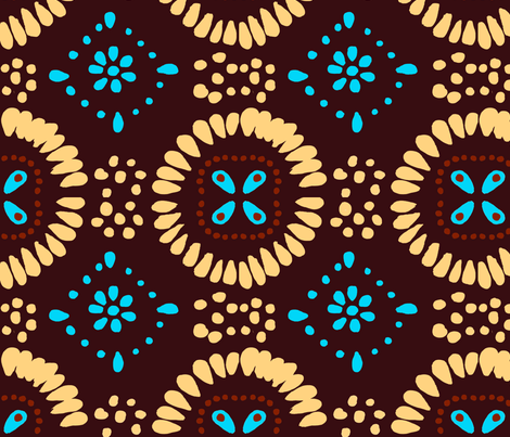Mexican Tile Print fabric by prettypenny on Spoonflower - custom fabric