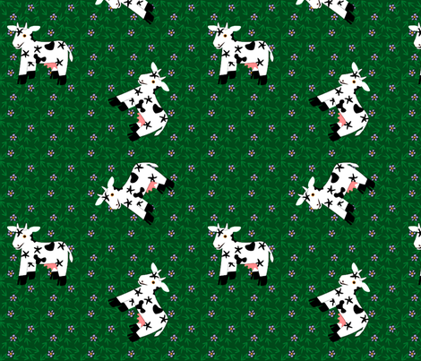 Sidehill Cows fabric by glimmericks on Spoonflower - custom fabric