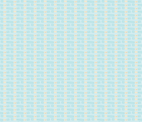 Craftiness! Blue Embroidery Floss fabric by wildolive on Spoonflower - custom fabric