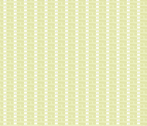 Craftiness! Green Embroidery Floss fabric by wildolive on Spoonflower - custom fabric