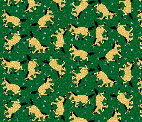 Wild Horses fabric by glimmericks on Spoonflower - custom fabric