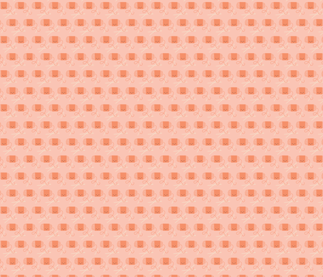 Craftiness! Orange Yarn fabric by wildolive on Spoonflower - custom fabric