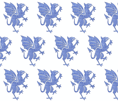 Blue Dragon fabric by hfpdesigns on Spoonflower - custom fabric