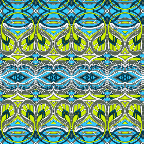 Swirlique Nouveau fabric by edsel2084 on Spoonflower - custom fabric