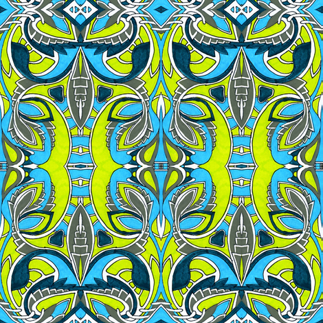 We Sprout Electric fabric by edsel2084 on Spoonflower - custom fabric