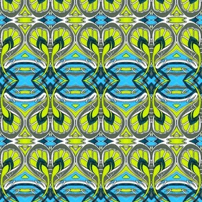 Crocus Spring (cyan, gray, lime)