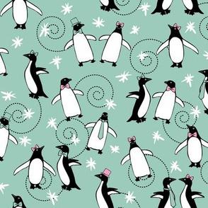 Penguins Puttin' On The Ritz (Blue)