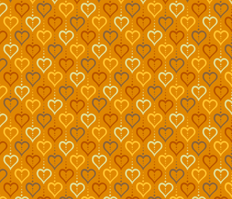 Heart Chain - Autumn fabric by siya on Spoonflower - custom fabric