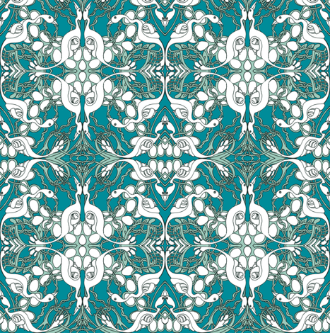 Nesting (in small scale) fabric by edsel2084 on Spoonflower - custom fabric
