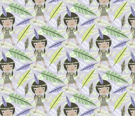 Native American Girl fabric by mktextile on Spoonflower - custom fabric