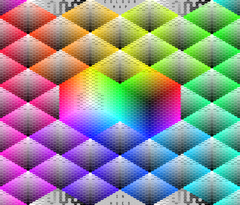 large hue triangle palette fabric by sef on Spoonflower - custom fabric
