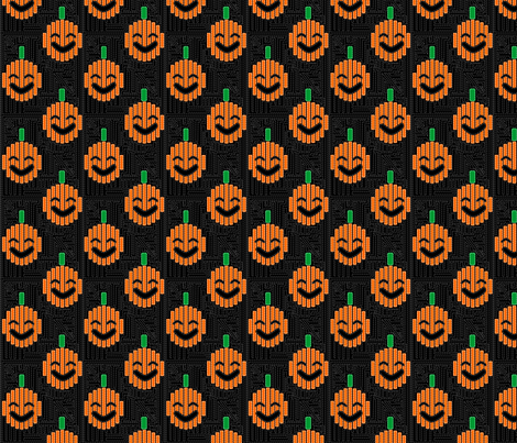 Pumpkin Mola fabric by glimmericks on Spoonflower - custom fabric