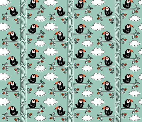 Birds_Hornbill fabric by rosalie409 on Spoonflower - custom fabric