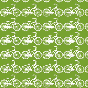 dark green bike