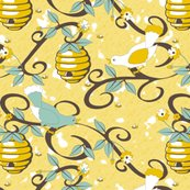 Rrrall_about_the_birds_and_the_bees_-_restricted_colours__-_soft_spoonflower_yellow_shop_thumb