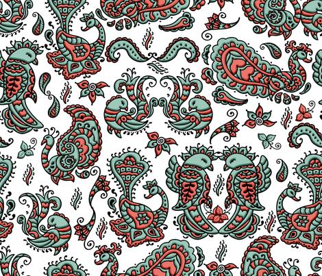 Mehndi_Spoonflower_Birdies fabric by lisa_binion on Spoonflower - custom fabric