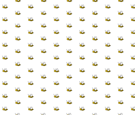Bee Happy - White fabric by inscribed_here on Spoonflower - custom fabric
