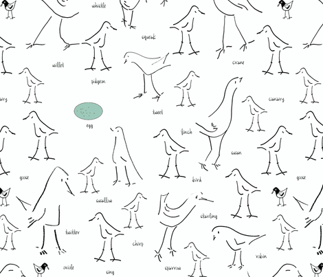 Birds_of_a_Line fabric by ddmote on Spoonflower - custom fabric