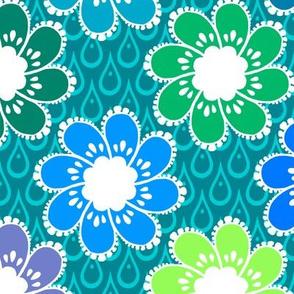 Rainy Day Flowers - Puddlepond
