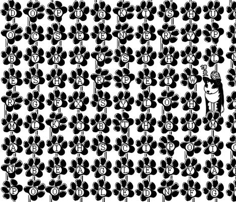 Typewriter-key word search fabric by hakuai on Spoonflower - custom fabric