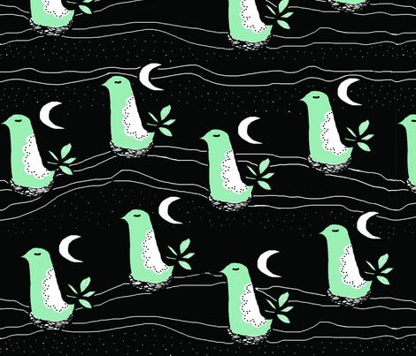 Good Night Birdies fabric by corinnevail on Spoonflower - custom fabric