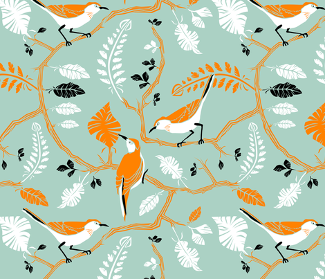 Birds_of_a_feather fabric by niceandfancy on Spoonflower - custom fabric