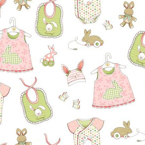 Bunnies for Baby - WHITE
