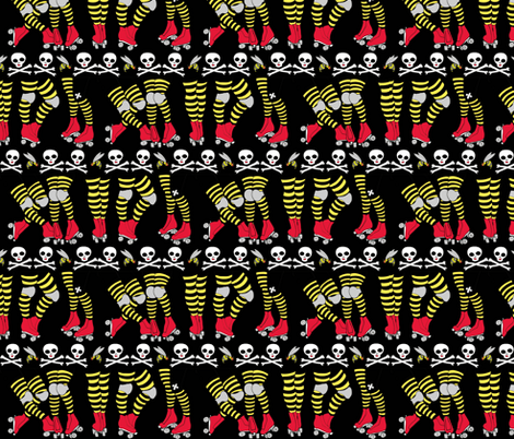 Derby Legs Black the Killer Beesocks!-ch fabric by beesocks on Spoonflower - custom fabric