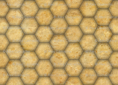 Aged Paper Hex Map 01