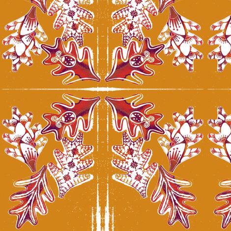 Autumn Wreath fabric by joonmoon on Spoonflower - custom fabric