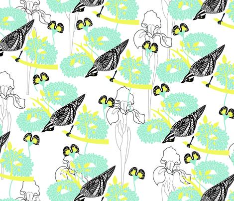 WATCH_THE_BIRDY fabric by mokker on Spoonflower - custom fabric