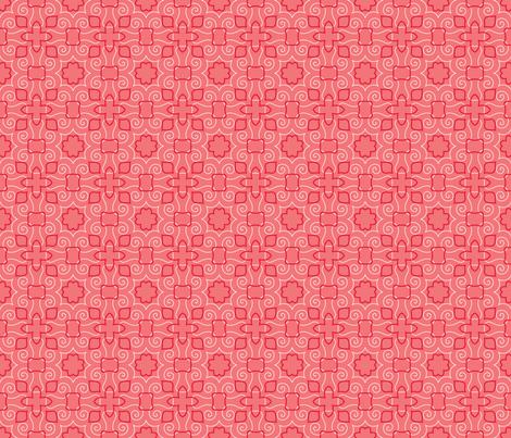Party Birds BG Coral fabric by jillianmorris on Spoonflower - custom fabric